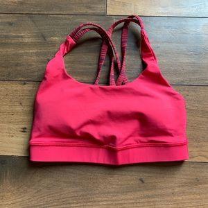 Lululemon pink size2 bra